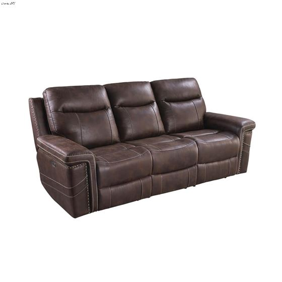 Wixom Brown Power Reclining Sofa With Power Headrest 603511PP By Coaster