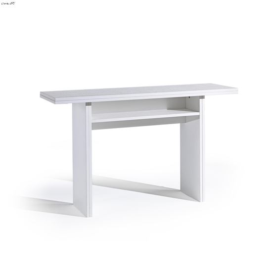 Ritz White Wood Grain Console /Dining Table by Cas