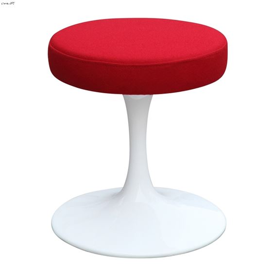 """Red and White 16"""" Flower Stool Chair FMI9251 By Fine Mod Imports"""