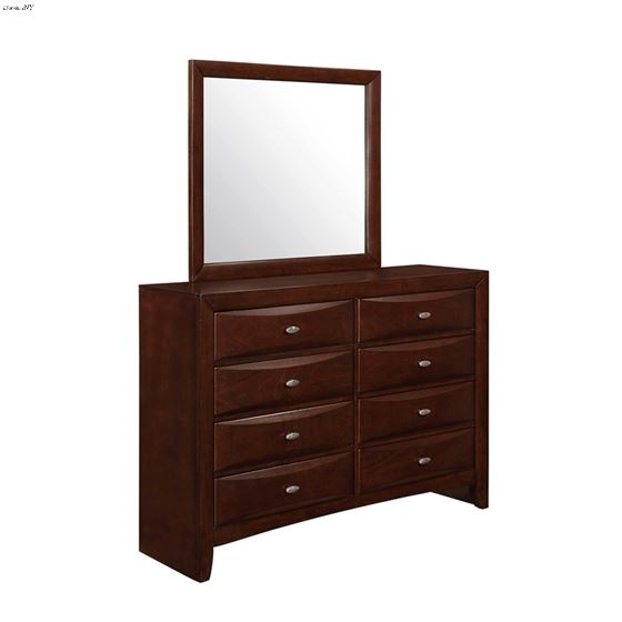Linda Merlot 8 Drawer Dresser Side