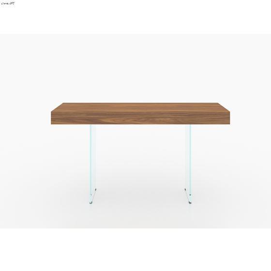 IL Vetro Walnut Veneer Console Table - 3