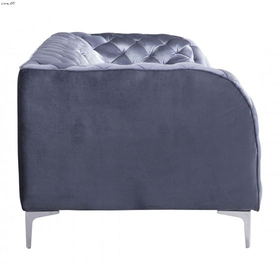 Providence Grey Velvet Tufted Sofa 900280 Side