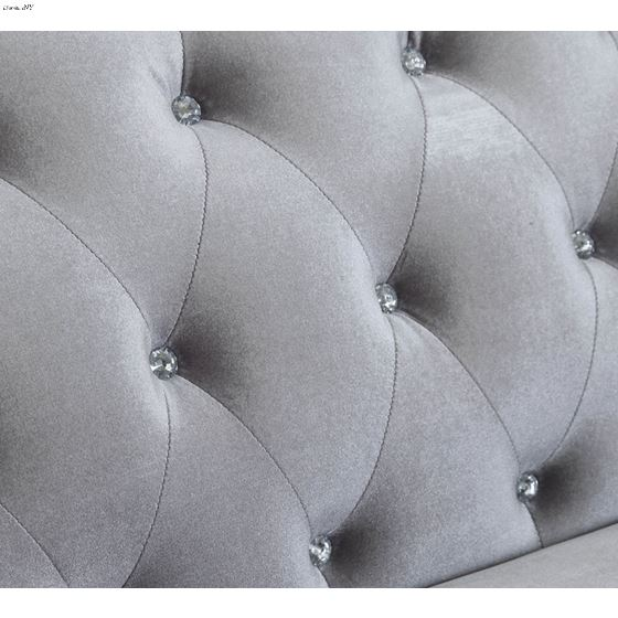 Frostine Silver Button Tufted Sofa 551161-3