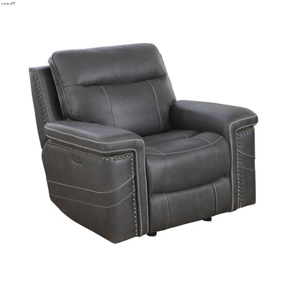 Wixom Charcoal Power Glider Recliner with Power Headrest 603516PP By Coaster