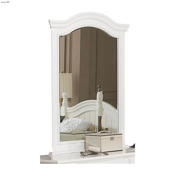Clementine White Arched Mirror 1799-6 by Homelegance