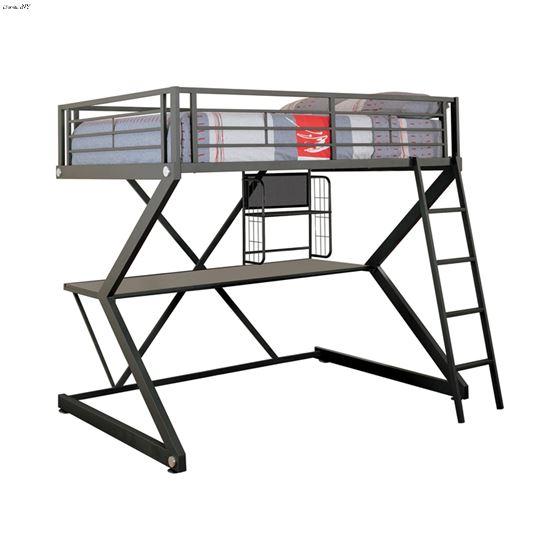 Parkview Full Workstation Loft Bed Black 460092