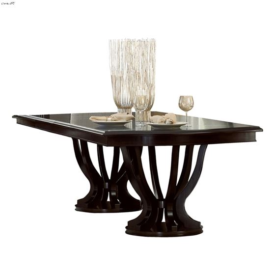 Savion Double Pedestal Dining Table 5494 106 By Homelegance