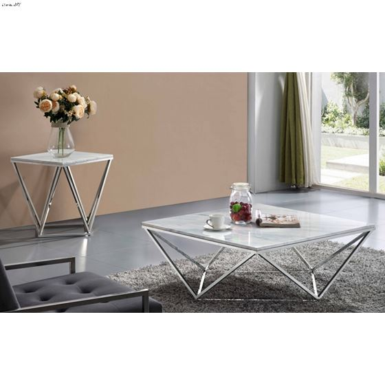 Skyler Chrome Stainless Steel Occasional Table Col