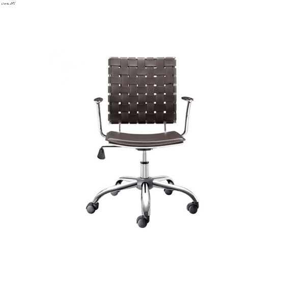 Criss Cross Office Chair 205032 Espresso - 3