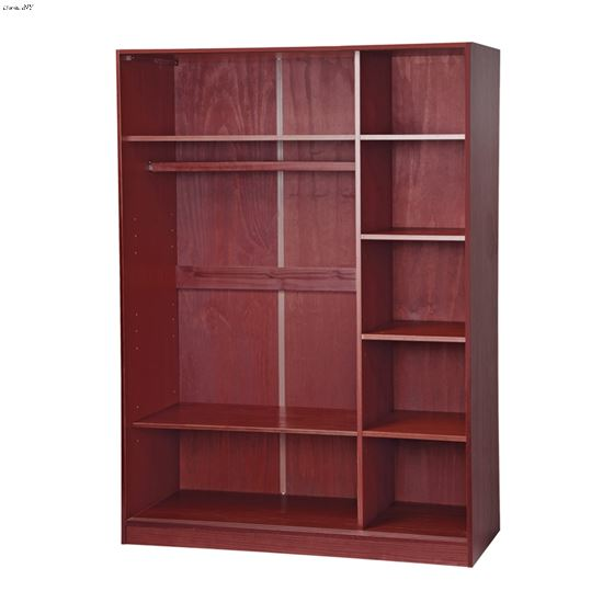 3 Sliding Door Wardrobe Closet Armoire With 1 Large 4 Small Shelves 100 Solid Wood Additional Sold Separately