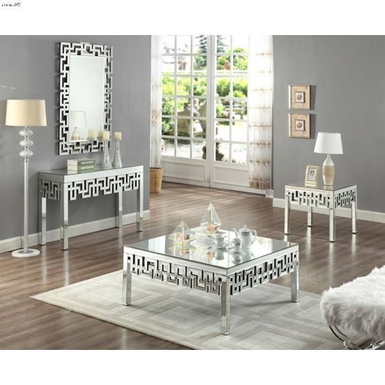 Aria Mirrored Occasional Table Collection