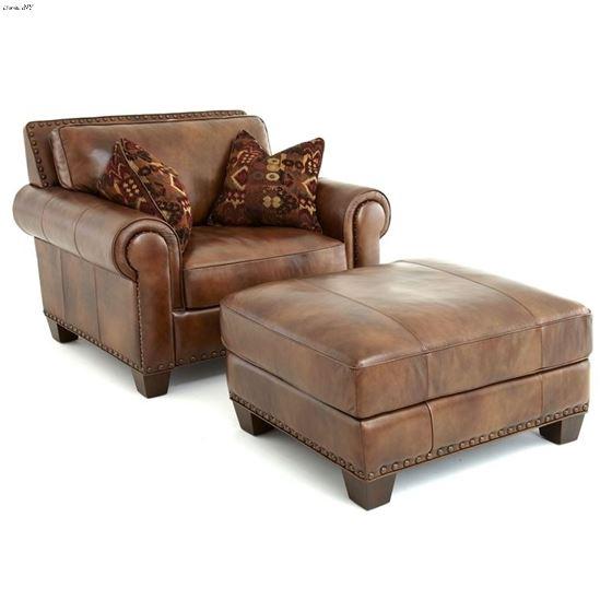 Silverado Caramel Brown Leather Chair SR910C By Steve Silver