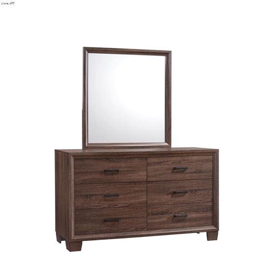 Brandon Warm Brown Rectangle Framed Mirror 20532-3
