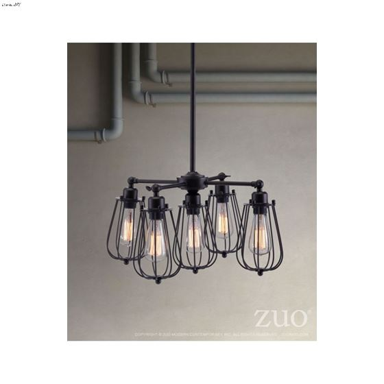 Porirua Ceiling Lamp 98424 Distressed Black- 3