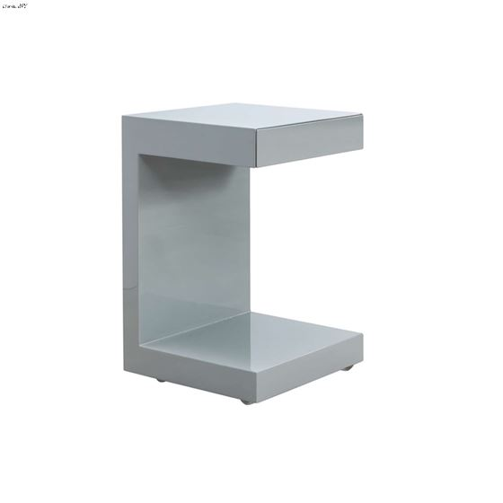 Lino High Gloss Gray Lacquer Nightstand by Casabia