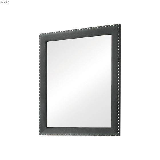 Melody Rectangular Pacific Grey Upholstered Mirror 223384 By Coaster