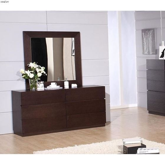 Loft Wenge 6 Drawer Dresser