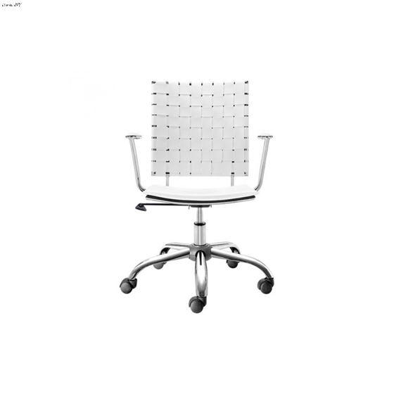 Criss Cross Office Chair 205031 White - 3