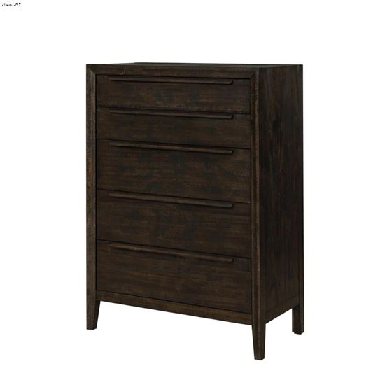 Malvern Rustic French Press Brown 5 Drawer Chest 223085 By Coaster