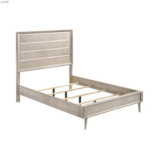 Ramon Metallic Sterling King Panel Bed 222701KE-3