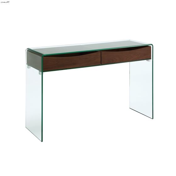 Ibiza Walnut Veneer w/ Glass Console Table by Casa