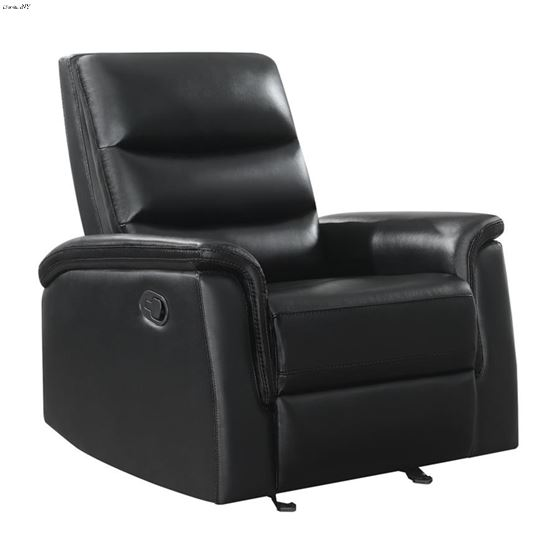 Dario Black Performance Leatherette Glider Recliner 601516 By Coaster
