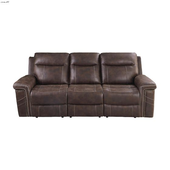 Wixom Brown Power Reclining Sofa With Power Head-3