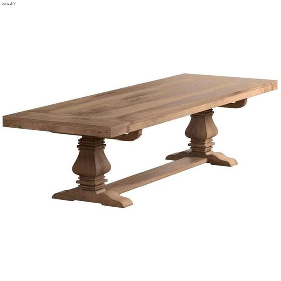 Florence Double Pedestal Trestle Dining Table 180201 by Coaster