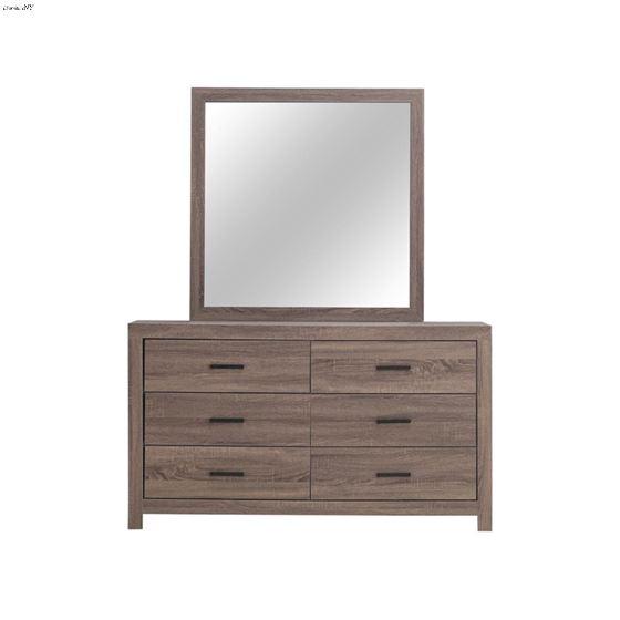 Brantford Barrel Oak Square Dresser Mirror 20704-3