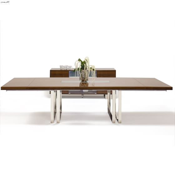 Galway Double Pedestal Walnut Lacquer Dining Table by Sharelle furnishings