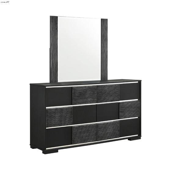 Blacktoft Black Rectangle Mirror  By Coaster