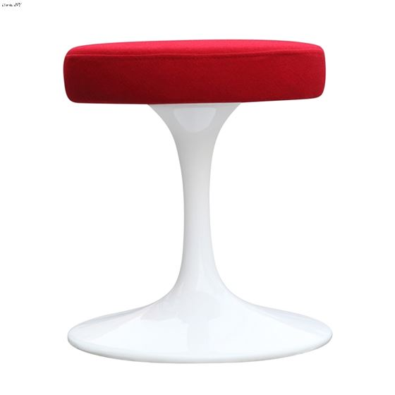 """Red and White 16"""" Flower Stool Chair FMI925-3"""