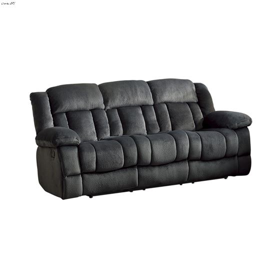Laurelton Charcoal Reclining Sofa 9636CC-3 by Homelegance