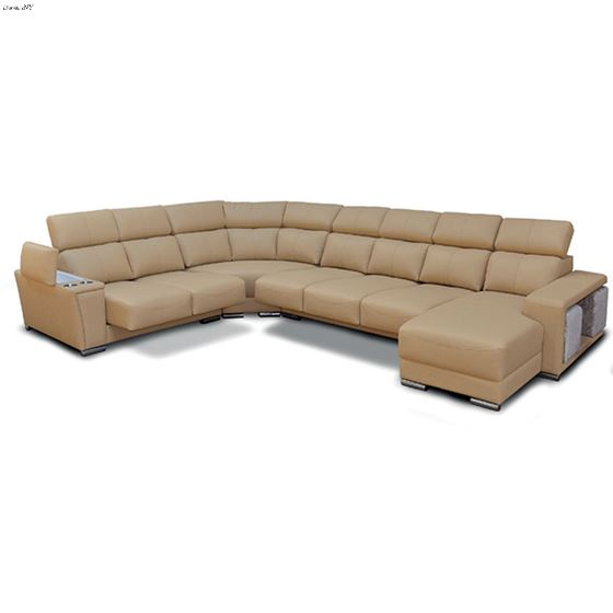 Modern 8312 Caramel Leather Sectional