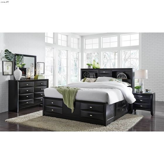 Linda Black 8 Drawer Dresser by Global Furniture-3