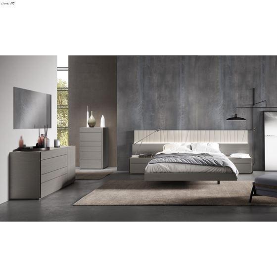The Porto Premium 5pc King Bedroom Set in Grey by JM