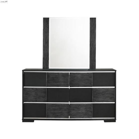 Blacktoft Black Rectangle Mirror-3