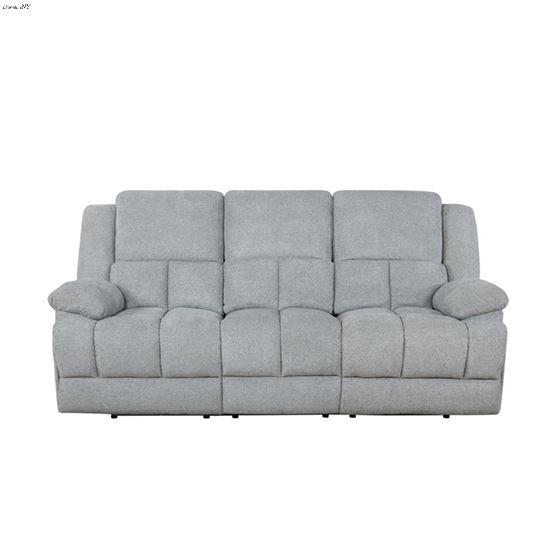 Waterbury Grey Power Recliner Sofa with Drop Dow-3
