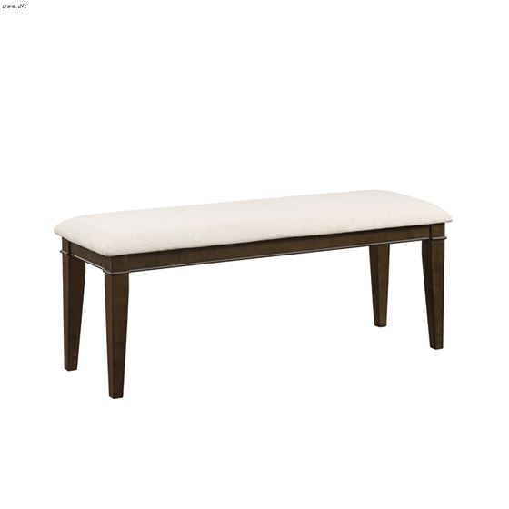Makah Brown Upholstered Dining Bench 5496-13