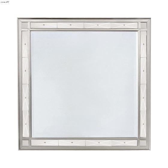Leighton Metallic Mercury Beveled Mirror 204924 By Coaster