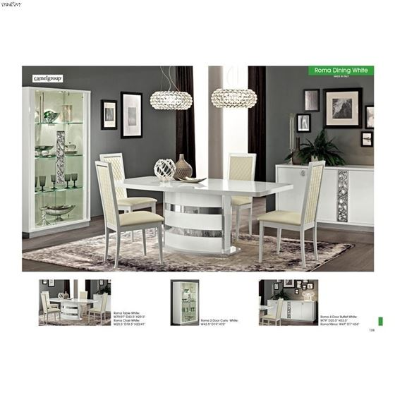 Roma White Dining Table 1