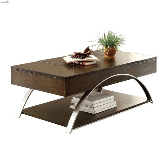 Tioga Contemporary Lift Top Coffee Table By Homelegance