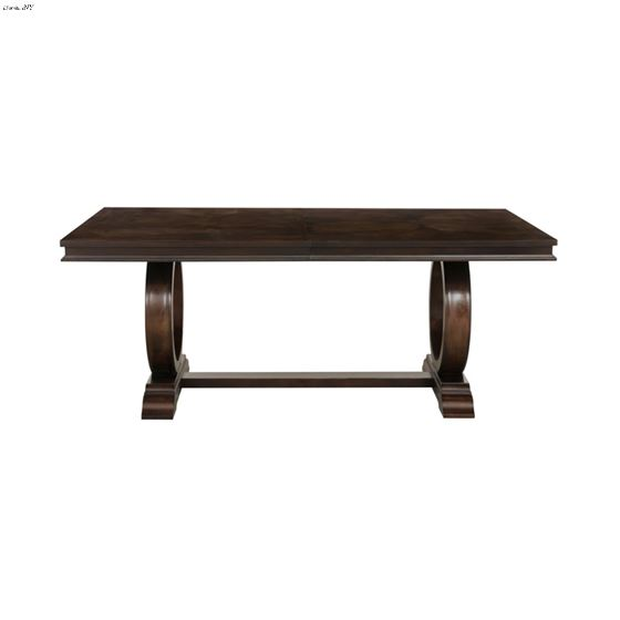 Oratorio Double Pedestal Trestle Dining Table 5562-96 Front