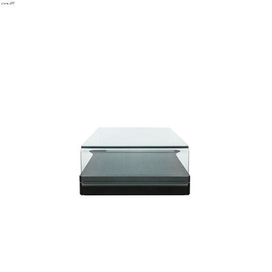 Modrest Vitro Modern Glass and Oak Coffee Table 2