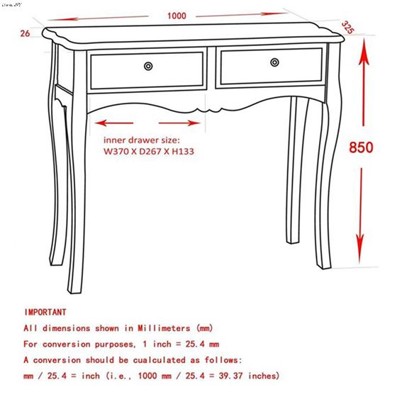 Marcela Console Table 502-970GY  - 3
